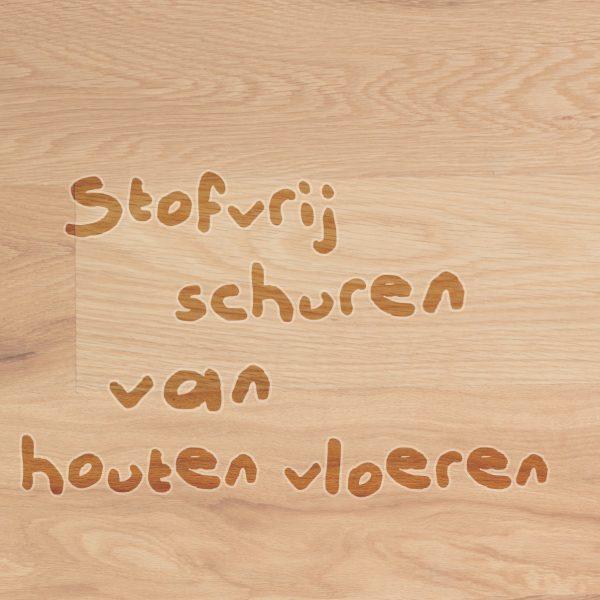 Stofvrij schuren van houten vloeren